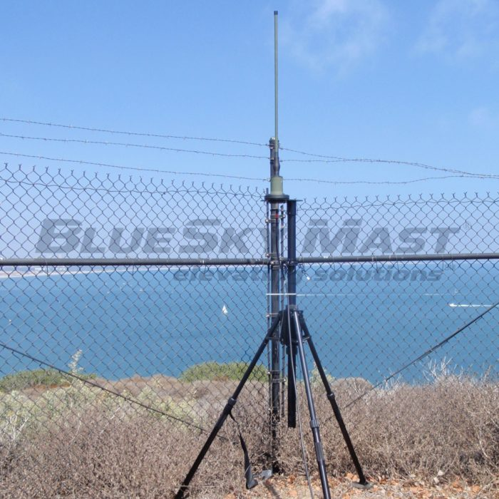BlueSky Mast AL1 Standard Series, Portable, Military Antenna Mast System designed to support Tactical RF Communications, Lightweight Antennas and Lightning Protection Systems