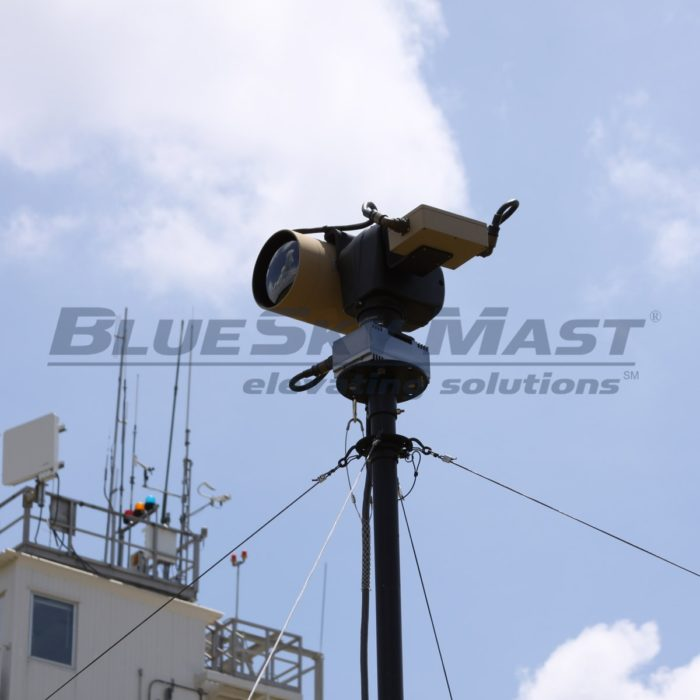 BlueSky Mast AL2 Lift Series, Portable, Military Mast System designed to support Video Surveillance Applications
