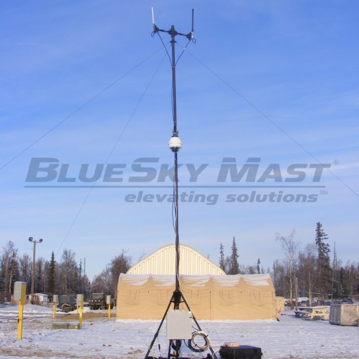 BlueSky Mast AL2 Standard Series, Portable, Military Mast System designed to support Video Surveillance Applications